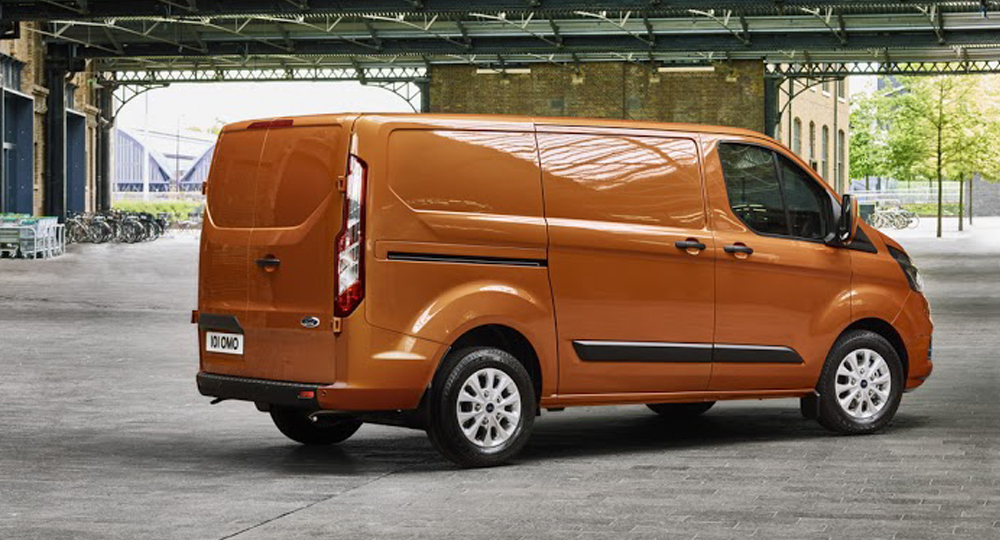 ford transit custom r ckansicht amzgruppe. Black Bedroom Furniture Sets. Home Design Ideas