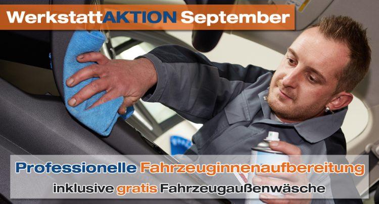 Professionelle Fahrzeuginnenaufbereitung Autohaus Pfüller